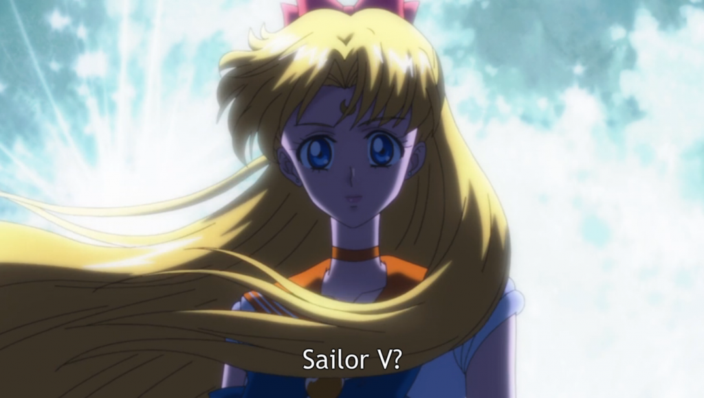 Sailor V? Her outfit looks different!